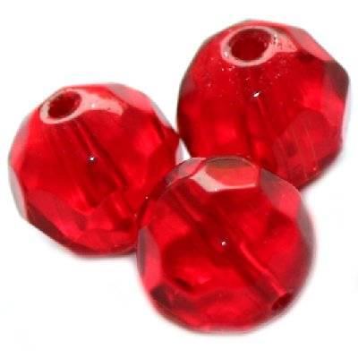 kryształki okrągłe czerwone 10 mm