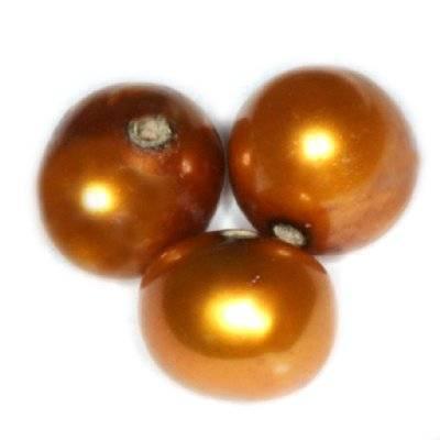 perełki słodkowodne 5-6 mm złote