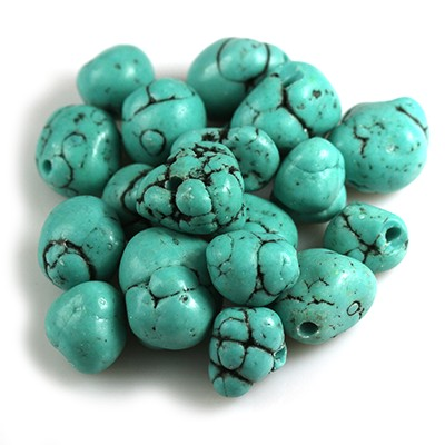big chips synthetic turquoise