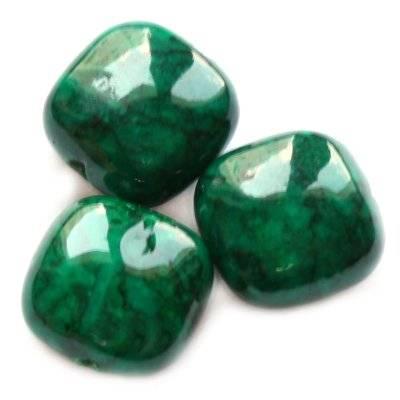 Pietra quadratini marmo allo smeraldo 6 x 4 mm / Pitere dure