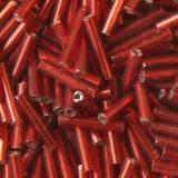 stiklo karoliukų vamzdžiai raudonos 9 mm