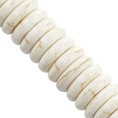 krążki turkus biały 12 x 12 mm kamień jubilerski