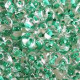 Matubo SuperDuo color lined light green 2.5 x 5 mm