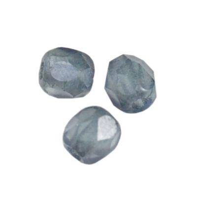 Fire Polished 3mm perle cristallo light denim blue matt