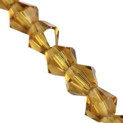 Crystaline bikoner topas 4 mm / kristall pärlor