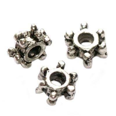 espaçadores de metal mini flocos 7 mm