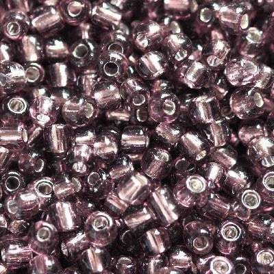 glass seed beads medium orchid 2 mm
