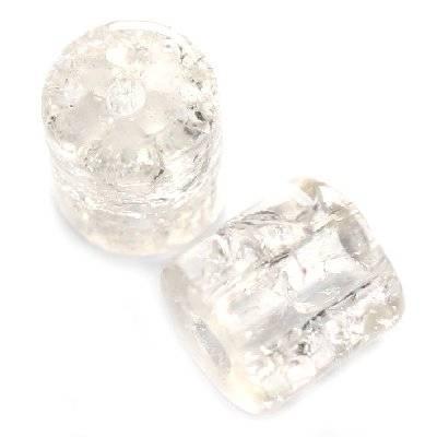 perles de crépitement tubes blancs 7 x 8 mm