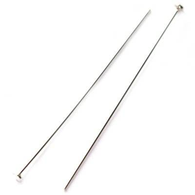 sterling silver 925 head pins 5 cm