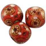 round wooden beads circles 12 mm
