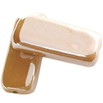 rectangles shining porcelain honey 16 x 36 mm