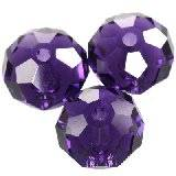 Swarovski briolette beads purple velvet 8 mm
