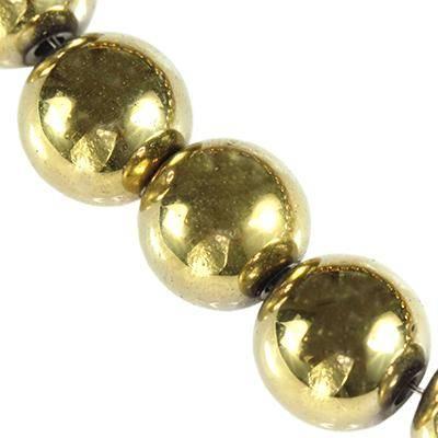 kule hematyt złote 6 mm