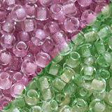 perles Toho round glow in the dark - dark pink/green pin 2.2 mm TR-11-2724