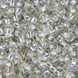 PRECIOSA Rocaille transparent silver lined clear 2.1 mm