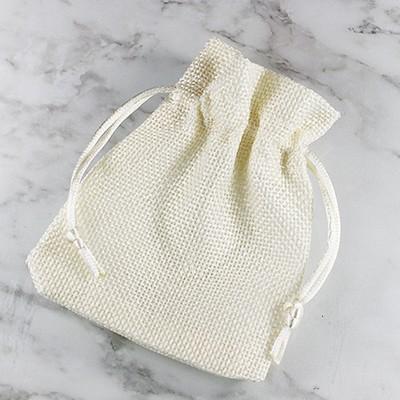 linen bag beige 9 x 12 cm