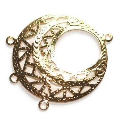 decorative circle drop with loops 2.5 cm