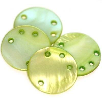 zawieszki masa perłowa koła zielone 20 mm