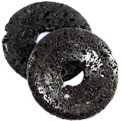 lava volcano beads donuts stone 40 mm / semi-precious stone