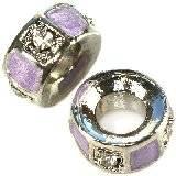modular beads light violet mini tubes 5 x 10 mm