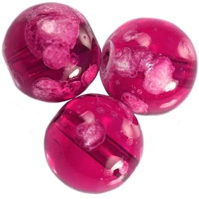 perles de verre Galactic 14 mm violet transparent