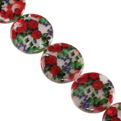 mother of pearl coin poppies 20 mm