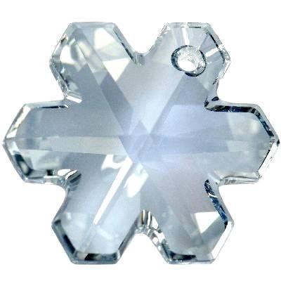 Swarovski snowflake pendants crystal blue shade 20 mm