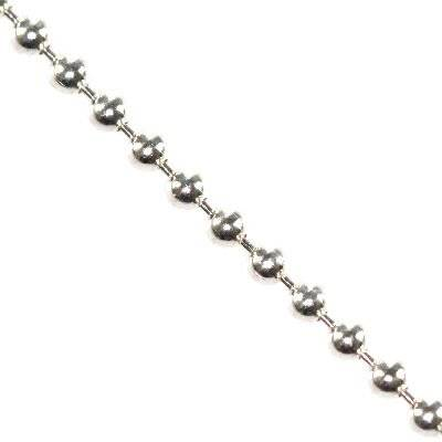 sterling silver 925 ball chain 1,5 mm