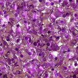 SuperDuo beads color lined dark purple 2,5 x 5 mm / Czech two hole beads