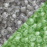 Toho beads round glow in the dark - gray crystal/bright g 2.2 mm TR-11-2725