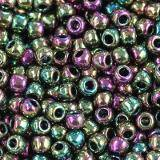 Toho beads round higher-metallic iris - purple/green 2.2 mm TR-11-509