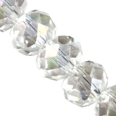 CrystaLine rondelle σαφές ΑΒ 6 x 8 χιλιοστά χάντρες / κρύσταλλο / crystal beads