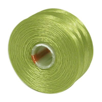 S-lon bead cord tex 35 chartreuse