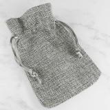 bag gray 9 x 12 cm