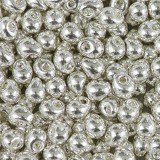 Perles Miyuki drop bright sterling plated 3.4 mm