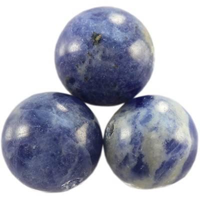 sodalite beads 12 mm / semi-precious stone