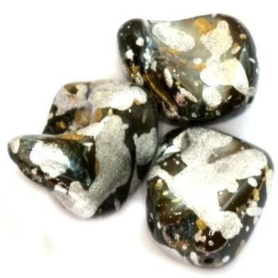 mother of pearl nugget spotted black