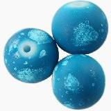 glass beads rubber coated galactic blue 12 mm
