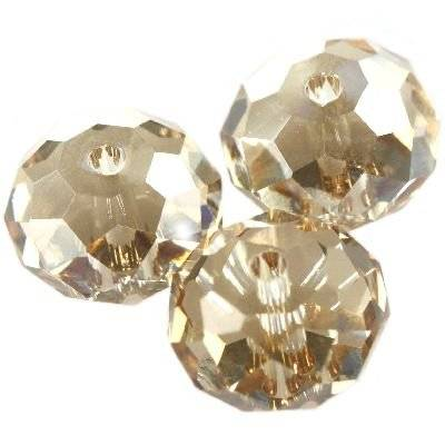 Swarovski briolette beads crystal golden shadow 8 mm