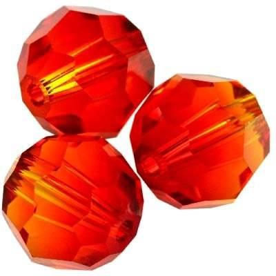 Swarovski round beads fireopal 6 mm