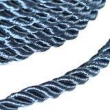 corde bouclée bleue 4 mm