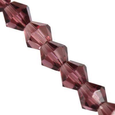 Crystaline toupies améthyste 4 mm / perles de cristal