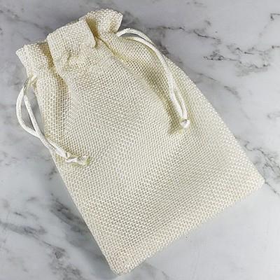 linen bag beige 10 x 14 cm