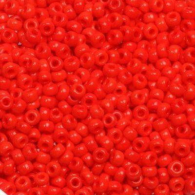 Miyuki round beads opaque vermilion red 11/0