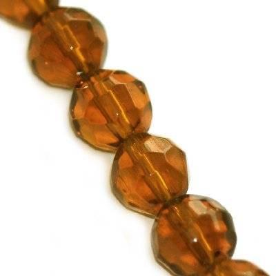 kryształki okrągłe brązowe 10 mm