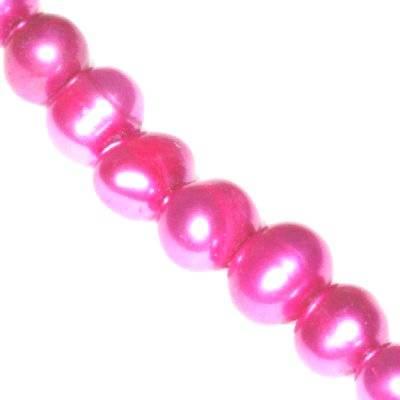 perełki słodkowodne 6-7 mm różowe