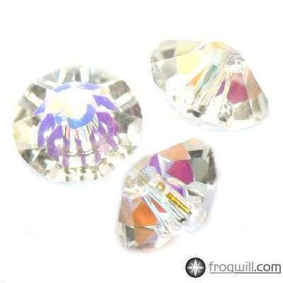 Swarovski rondelle beads crystal ab 6 mm