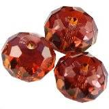 Swarovski briolette beads crystal red magma 8 mm