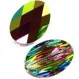 Swarovski oval beads crystal vitrail medium p 14 x 10 mm