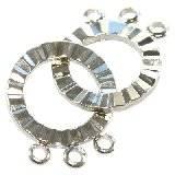 zapięcie nakładane proste 18 mm półfabrykaty do wyrobu biżuterii